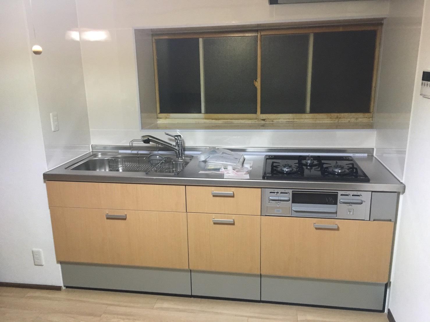 築45年!伊勢崎市でキッチン・クッションフロア改修工事完了!