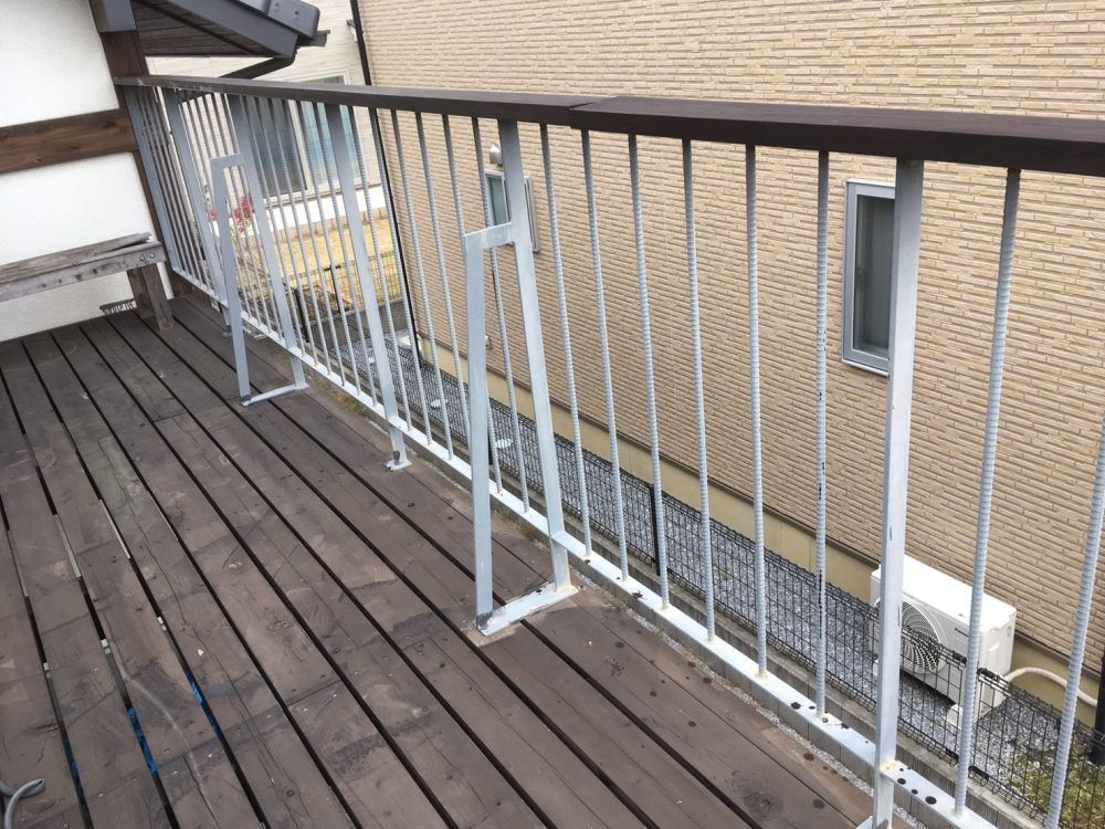 太田市へお家のウッドデッキ塗装のお見積りに伺いました – ミヤケンリフォーム