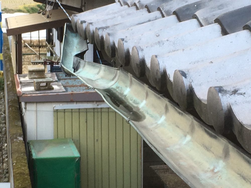 前橋市へ銅製の雨樋交換のお見積りにお伺いしました – ミヤケンリフォーム