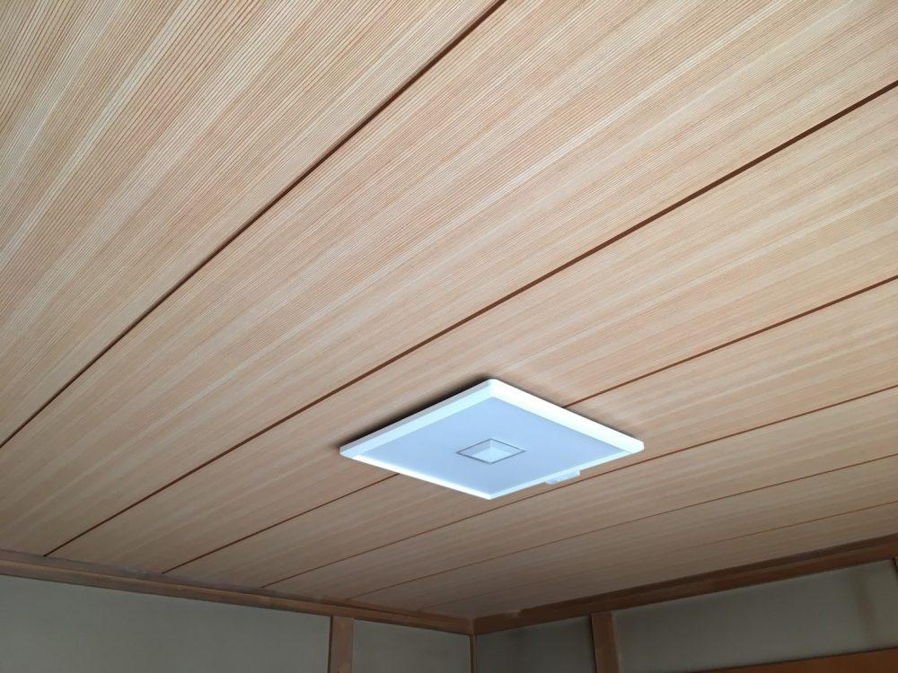 前橋市Y様邸で天井の張替え工事を行いました