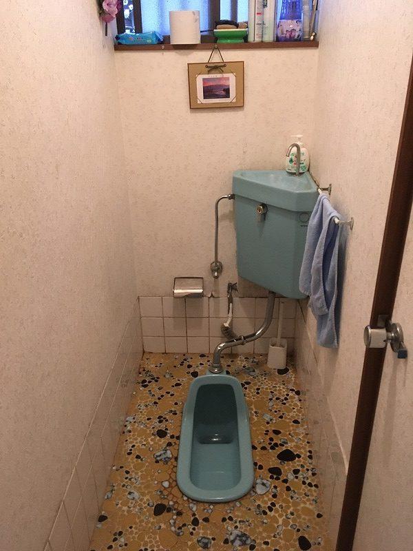 和式トイレから洋式トイレの現場調査にお伺いしました。