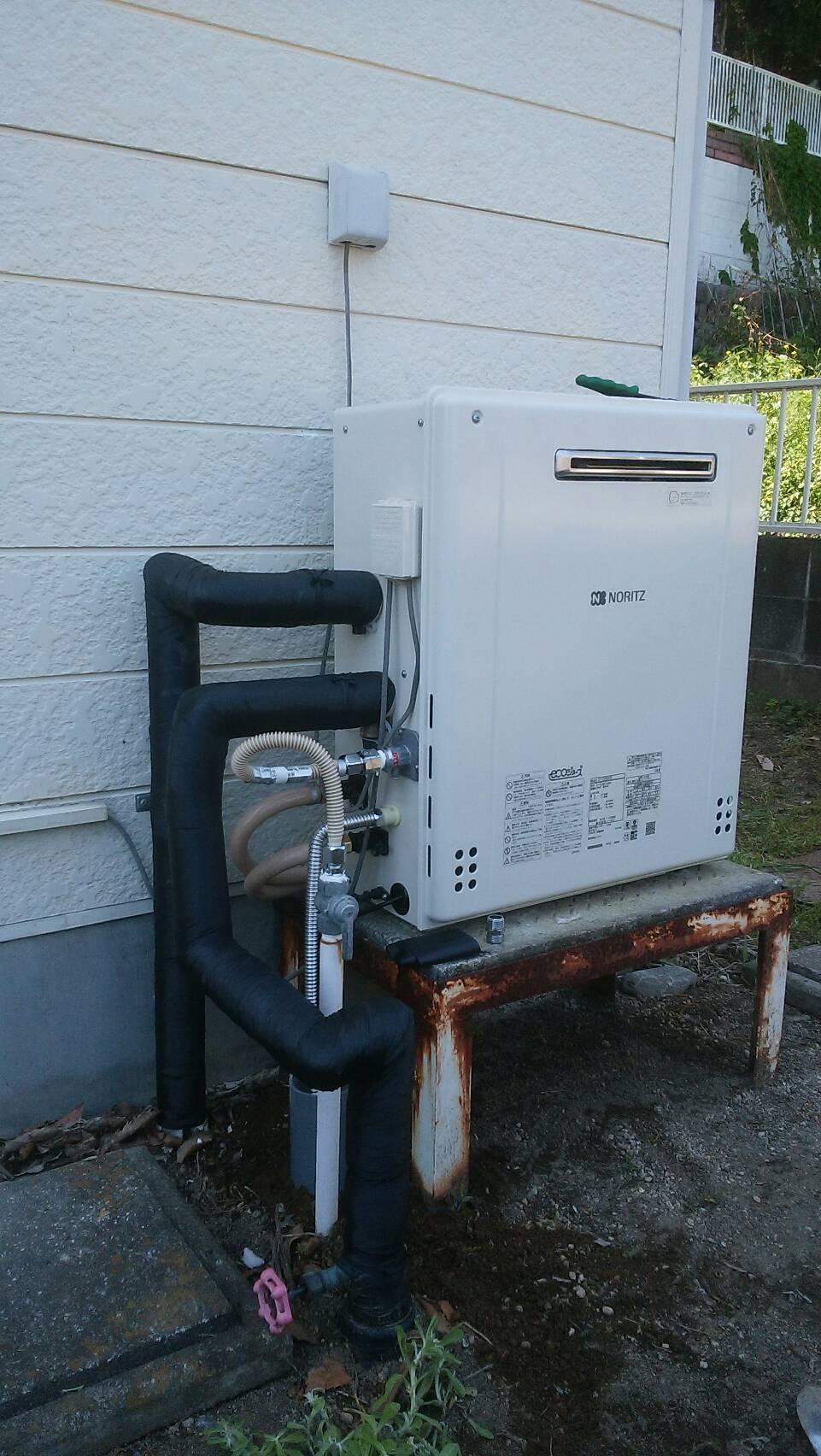 高崎市寺尾町 ガス給湯器交換工事が終わりました。