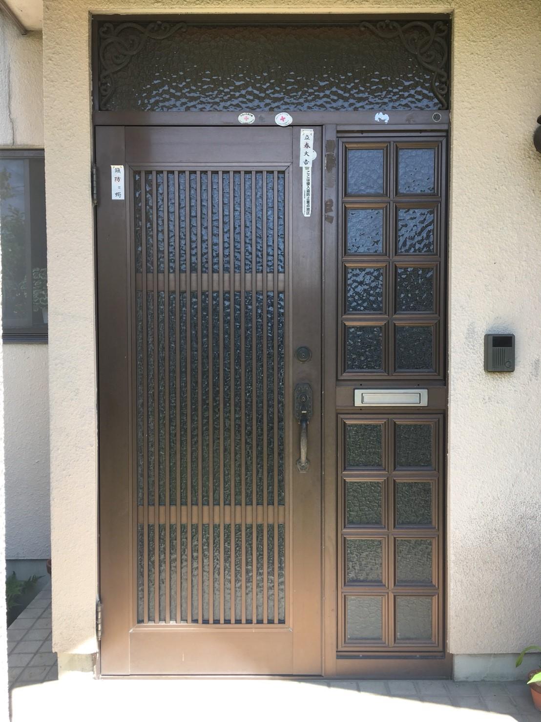 前橋市にて、玄関ドア工事のお見積もりにお伺いしました