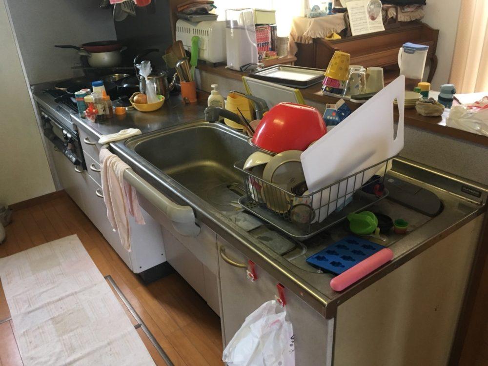 高崎市にてキッチン工事の現場調査にお伺いしました(クリンレディ)