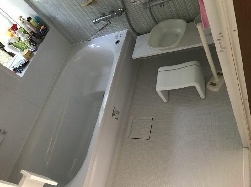 伊勢崎市にて浴槽の位置を変更して快適なお風呂に✨タイルからユニットバスへの交換工事を行いました