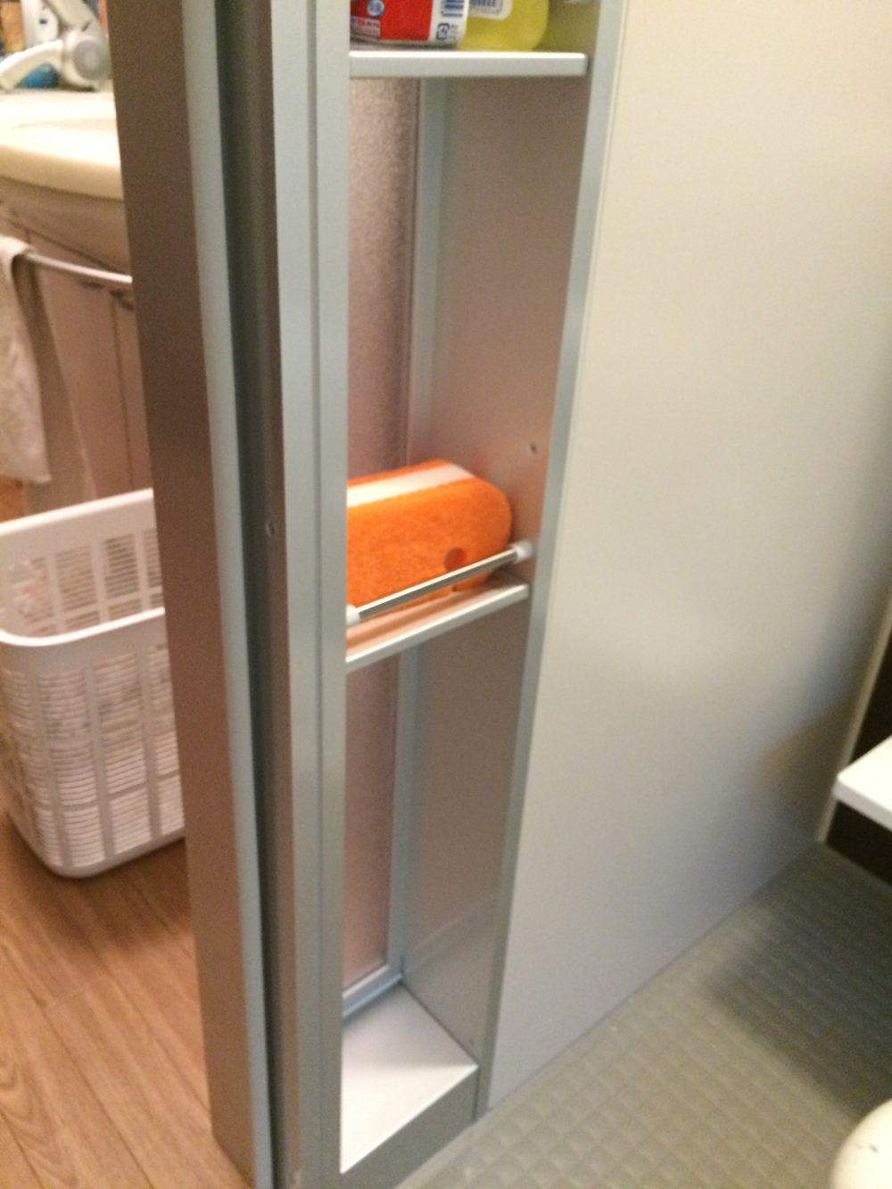 浴室ドアにも収納スペースを!LIXILアライズに浴室交換工事が完了しました – ミヤケンリフォーム