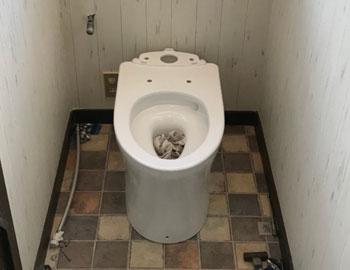 トイレ取付中