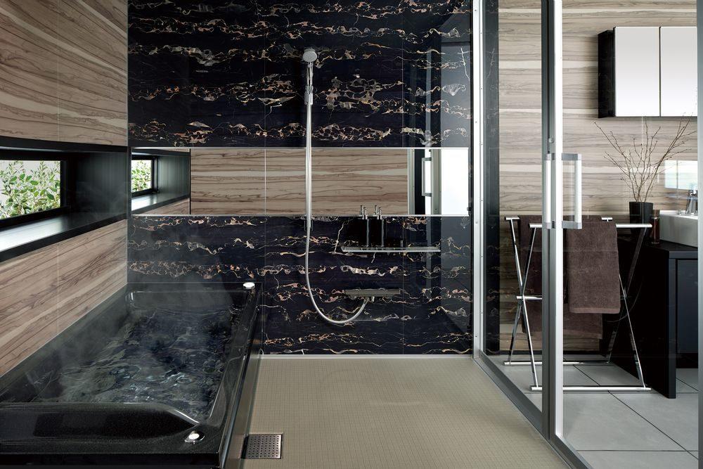 ノーリツのバスルーム ユパティオのウォールデザイン