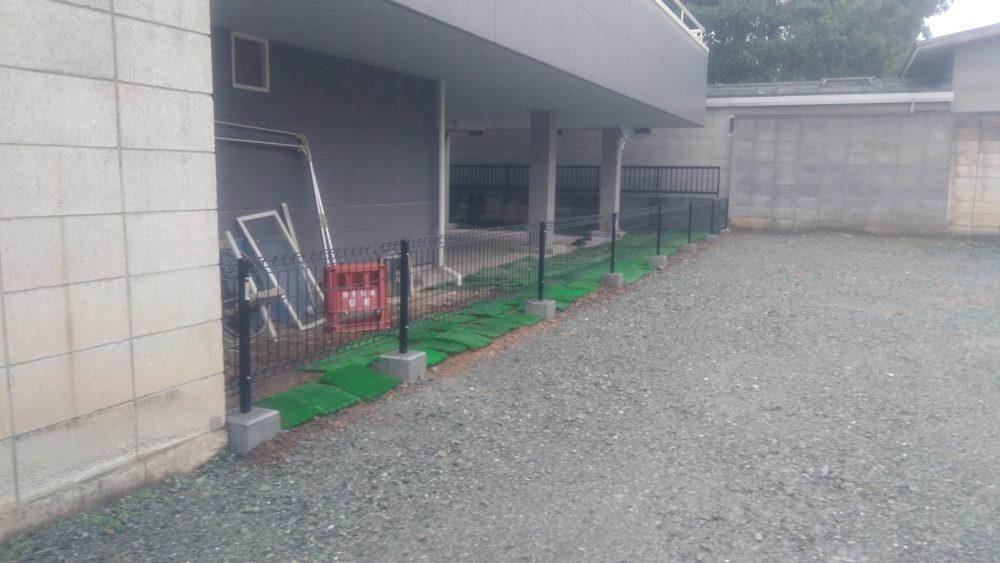 前橋市にて新規フェンスの取り付け工事が完了しました!