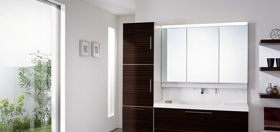 お掃除簡単・空間すっきり洗面化粧台「L.C(エルシィ)」
