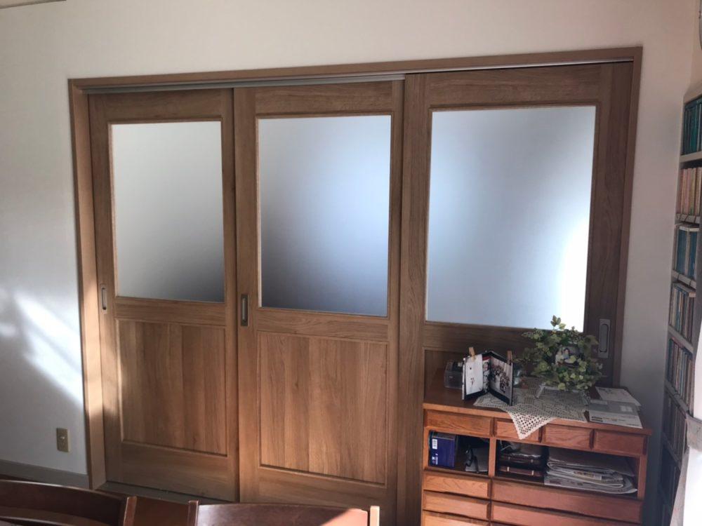 室内ドアの新設工事を行いました!
