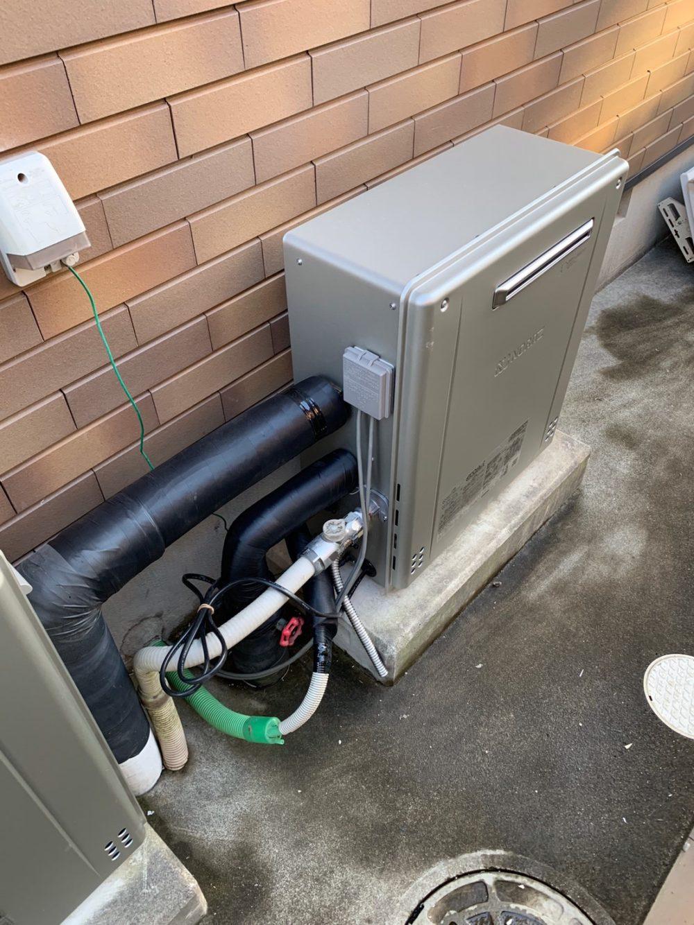 前橋市にて給湯器の交換工事が完了しました!