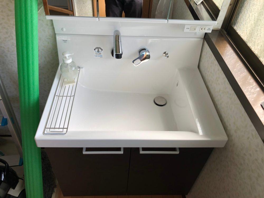 渋川市にて洗面化粧台LIXIL【ピアラ】の交換工事が完了しました!
