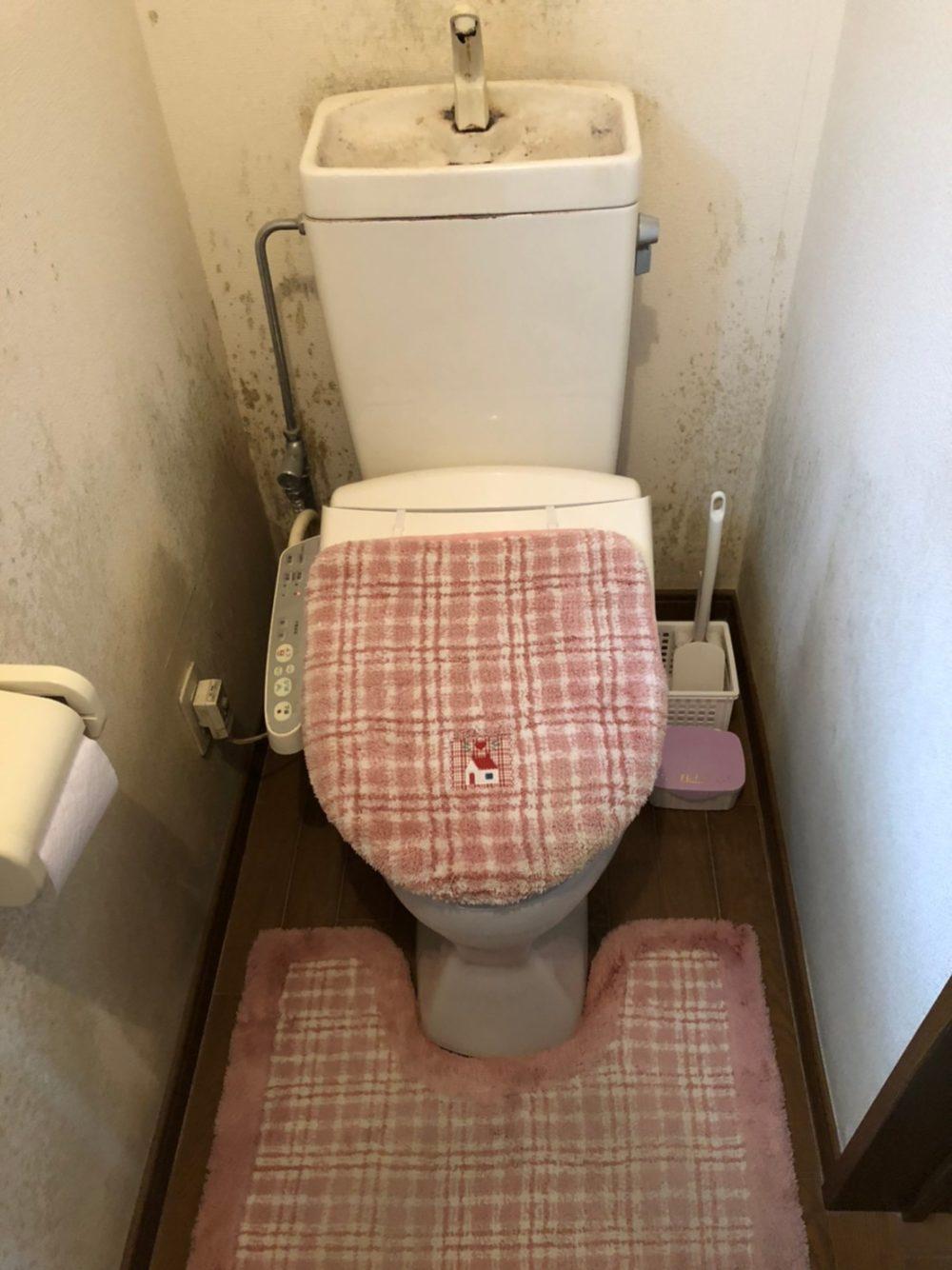 高崎市にてトイレの水漏れの影響でカビが発生したとのことで現場調査に行ってきました!